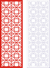 Laser Cut Seamless Panel Design D-143 Free CDR Vectors Art