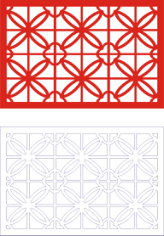 Laser Cut Seamless Panel Design D-144 Free CDR Vectors Art