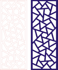 Laser Cut Seamless Panel Design D-150 Free CDR Vectors Art
