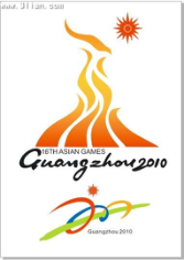 2010 asian games banner fire icons colorful design Free CDR Vectors Art