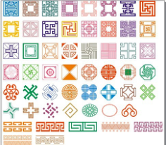 50 kinds of classical pattern Free CDR Vectors Art
