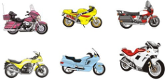 6 models vector motorcycle Free CDR Vectors Art