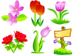 9 free vector flowers Free CDR Vectors Art