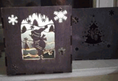 Gift Box Snowman File Download For Laser Cut Free CDR Vectors Art