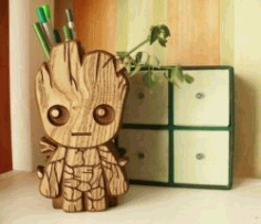 Groot Pencil Box File Download For Laser Cut Free CDR Vectors Art