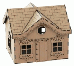 House Box File Download For Laser Cut Free CDR Vectors Art