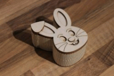 rabbit-shaped Box File Download For Laser Cut Free CDR Vectors Art