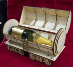 Tank Wine Box File Download For Laser Cut Free CDR Vectors Art