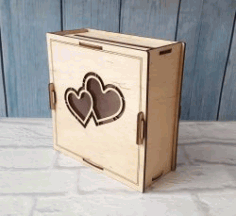 Wooden Wedding Photo Box File Download For Laser Cut Free CDR Vectors Art