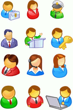 People user icon Free CDR Vectors Art