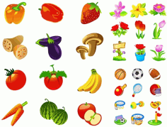 Fruits and vegetables icon Free CDR Vectors Art