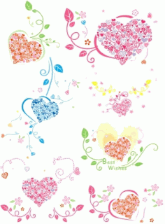Heartshaped ring pattern Free CDR Vectors Art
