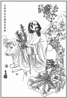 Yandi the shennong bianchang baicao fig Free CDR Vectors Art