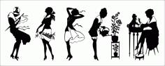 Retro woman Free CDR Vectors Art