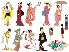 Japan Beautiful Girls Free CDR Vectors Art