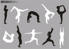 Yoga silhouette Download Free CDR Vectors Art