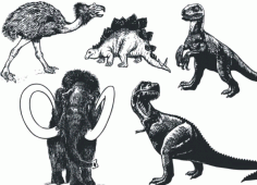 Prehistoric animals Free CDR Vectors Art