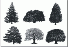 A monochrome tree Free CDR Vectors Art