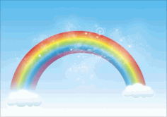 Rainbow Free CDR Vectors Art