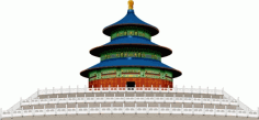 The Temple of heaven Free CDR Vectors Art