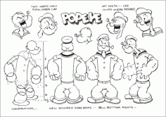 Popeye official set Free CDR Vectors Art