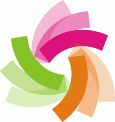 The rotating triangle color Free CDR Vectors Art