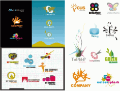Variety of logo template Free CDR Vectors Art