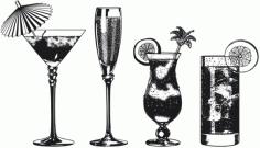 The super drinks monochrome Free CDR Vectors Art