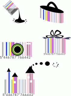 The barcode also crazy-179905 Free CDR Vectors Art