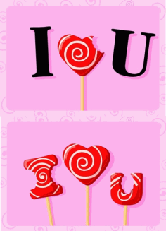 I love you candy Free CDR Vectors Art