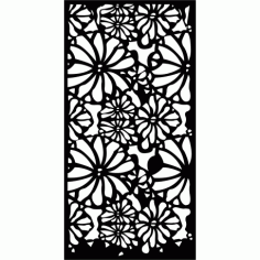 Cnc Panel Laser Cut Pattern File cn-l53 Free CDR Vectors Art