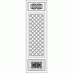 Cnc Panel Laser Cut Pattern File cn-l41 Free CDR Vectors Art