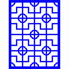 Cnc Panel Laser Cut Pattern File cn-l15 Free CDR Vectors Art