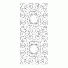 Cnc Panel Laser Cut Pattern File cn-h386 Free CDR Vectors Art