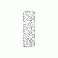 Cnc Panel Laser Cut Pattern File cn-h385 Free CDR Vectors Art