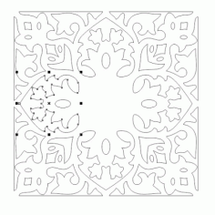 Cnc Panel Laser Cut Pattern File cn-h373 Free CDR Vectors Art