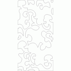 Cnc Panel Laser Cut Pattern File cn-h354 Free CDR Vectors Art
