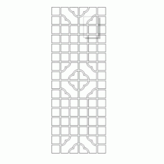 Cnc Panel Laser Cut Pattern File cn-h341 Free CDR Vectors Art