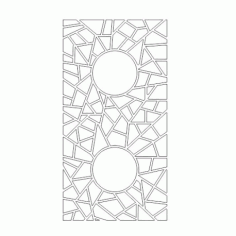 Cnc Panel Laser Cut Pattern File cn-h336 Free CDR Vectors Art