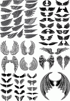 Wings Pack Free CDR Vectors Art