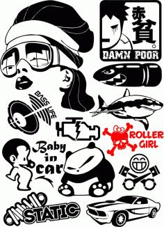 Vinyl Stickers Free CDR Vectors Art