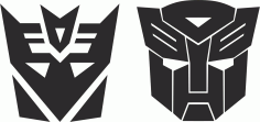 Transformers Stickers Decals Free CDR Vectors Art