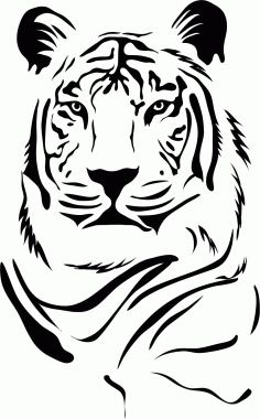 Tiger Stencil Free CDR Vectors Art