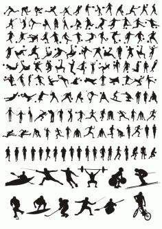 Sports Silhouettes Design Free CDR Vectors Art