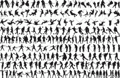 Sports Silhouette Pack Free CDR Vectors Art