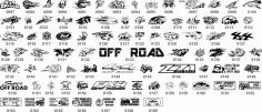 Off Road Stickers Collection Free CDR Vectors Art