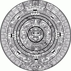 Mayan Calendar Free CDR Vectors Art