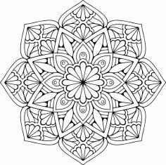 Mandala Floral Design Free CDR Vectors Art