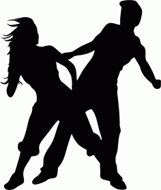 Man And Woman Dancing Free CDR Vectors Art