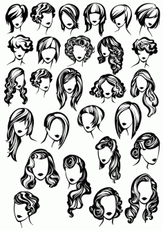 Female Face Silhouette Free CDR Vectors Art